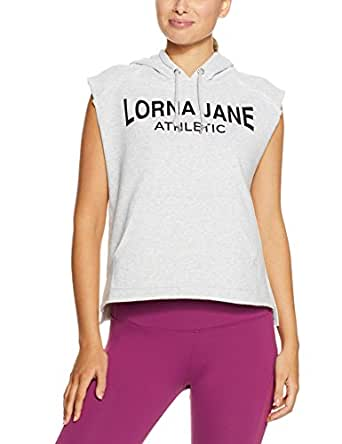 Lorna Jane Women's LJ Athletic S/Less Hoodie, Light Grey Marl, Small