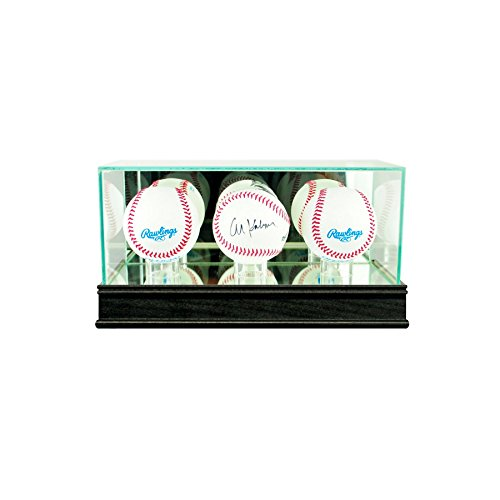 (Perfect Cases Triple Baseball Display Case with Conservation Glass (99% UV))