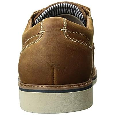 Nunn Bush Men's Barklay Plain Toe Oxford Lace Up, Tan Crazy Horse, 10.5 Medium   Oxfords