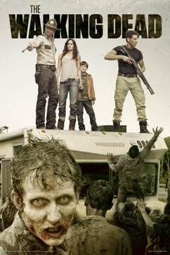 The Walking Dead Poster with Andrew Lincoln Chandler Riggs standing on Winnebago