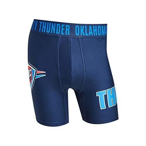 Oklahoma City Thunder Mens Boxer Briefs - NBA Sublimation Performance Active Underwear Sizes M-2X Polyester/Spandex