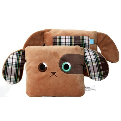 Poketti Plushies with a Pocket Plush Toy Dog Pillow Baxter The Puppy ()