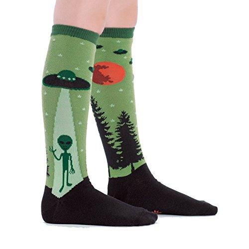 SOCK IT TO ME I BELIEVE JUNIOR KNEE HIGH SOCKS (Alien Shoes)