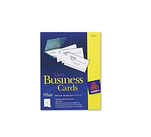 Avery 5911 - Perforated Business Cards, Laser, White - 2,500 Cards
