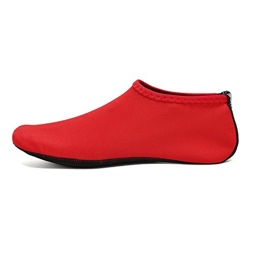 Surf Socks Shoes For Yoga Barefoot Men Beach Water Aerobics and Dry Aqua Women's Quick Water Swim BTDREAM Red Skin x1wg6Sqvv