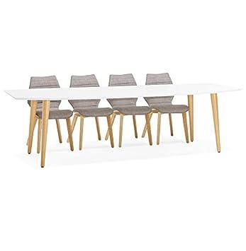 Style Design Alterego À Extensible 'eskimo' Table Dîner Scandinave 4Rj35AL