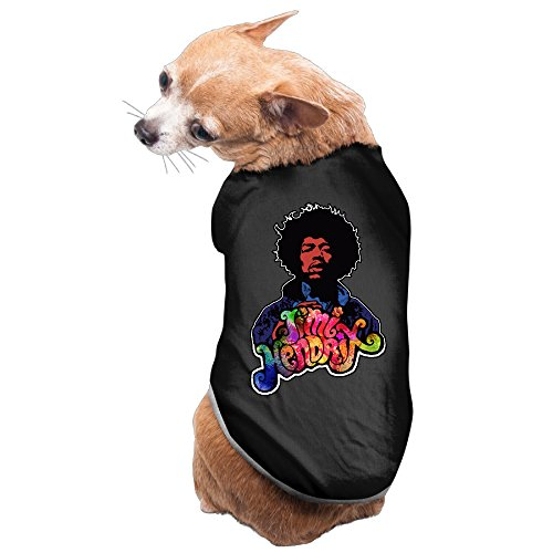 Jimi Hendrix Outfits (DEGOLNU Jimi Hendrix Dog Clothing Outfit Charming Pet)