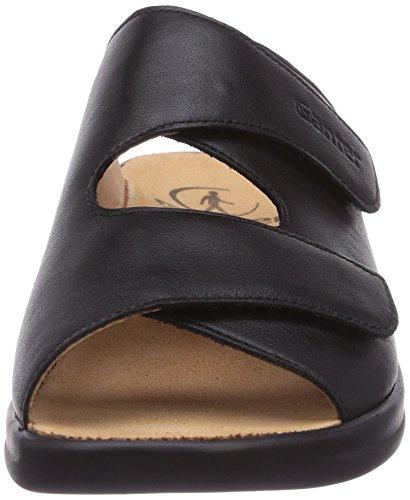 Black Ganter Clogs Monica Women's G Weite 0100 Schwarz and Mules 0waq07A