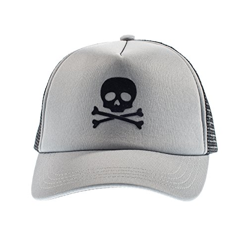 Born to Love Baby Boy Infant Trucker Sun Hat Toddler Baseball Cap Gray Skull M 53 cm 2 to 5 Years