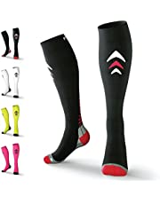Rymora Compression Socks (Cushioned, Graduated Compression, Ergonomic fit for Men and Women, Seamless Toe Seams) (Ideal for Sports, Work, Flight, Pregnancy)