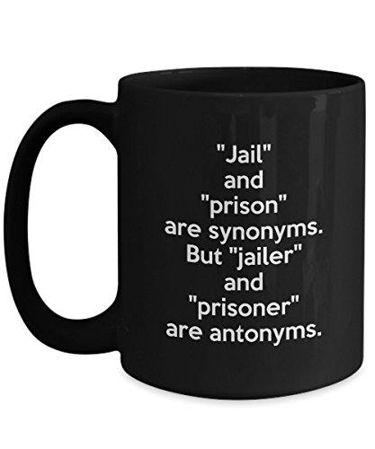 Funny Jailer Black Mug - Jail and