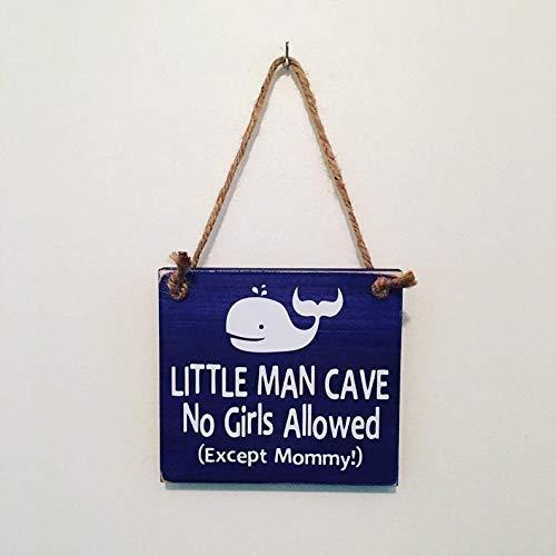 - Little Man Cave No Girls Allowed Whale Nautical Nursery Door Sign