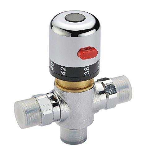 G1/2 Brass Thermostatic Mix Valve Solar Water Heater Valve Adjust The Mixing Water Temperature Thermostatic (Thermostatic Mix)