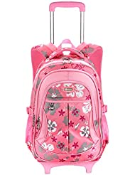 Fanci Kids Trolley School Backpack Girls Student Removable Luggage