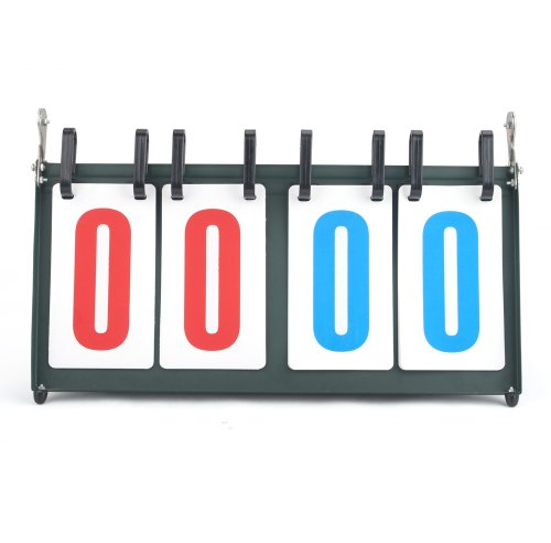 GOGO Portable 00-99 Tabletop Multifunctional Scoreboard, Ideal for Sports Games