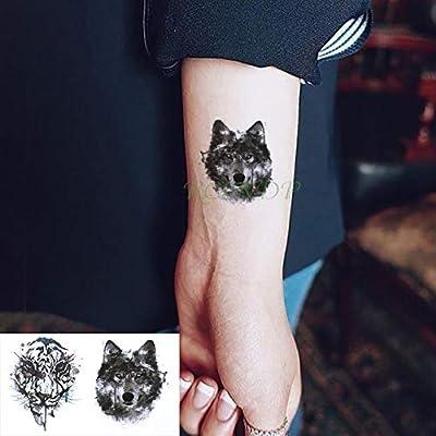 tzxdbh 5 Piezas Impermeable Etiqueta de Tatuaje Animal Gato Zorro ...