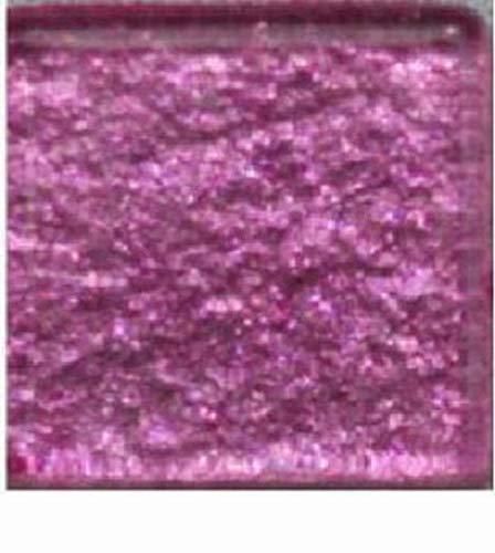 Glass Mosaic Tiles for Art DIY Crafts - Rose Pink Metallic - 3/8 inch - 50 Count - Art Tiles - for Indoor or Outdoor Mosaic Art Projects -