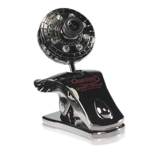 Quantum QHM500LM 8 Light Webcam for Laptop/Desktop  Silver