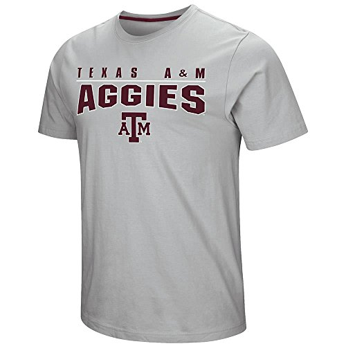 (Colosseum Mens Texas A&M Aggies Short Sleeve Tee Shirt - L)