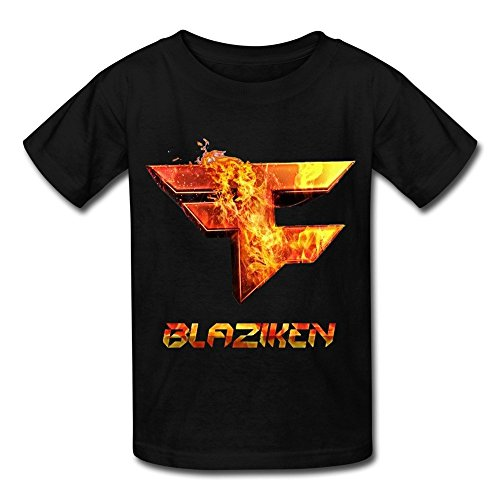 Kazzar Kid's Faze Clan Blaziken Round Collar T Shirt XL