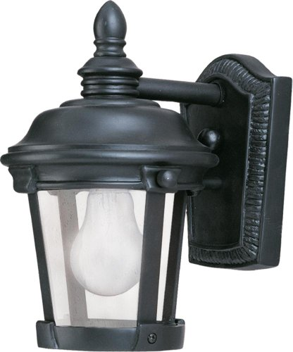 Maxim 3026CDBZ Dover Cast 1-Light Outdoor Wall Lantern, Bronze Finish, Seedy Glass, MB Incandescent Incandescent Bulb , 100W Max., Dry Safety Rating, Standard Dimmable, Glass Shade Material, 5750 Rated Lumens - Bronze Dover Wall Lantern