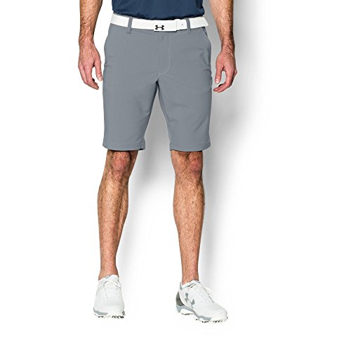 Under Armour Men's Match Play Tapered Shorts, Steel/True Gray Heather, 30