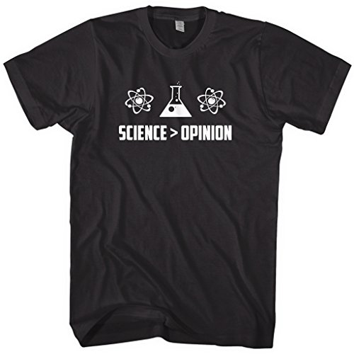 Mixtbrand Men's Science Is Greater Than Opinion T-Shirt M (Global Warming Experiments)