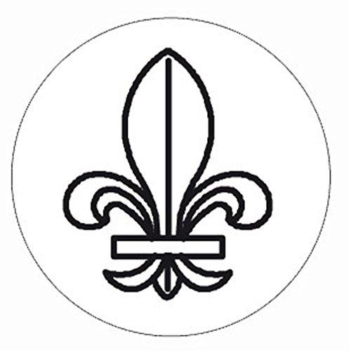 (Herbin 24 mm Brass Seal and Handle, Fleur De)