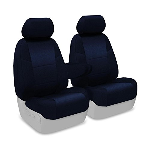Coverking Custom Fit Front 50/50 Bucket Seat Cover for Select Lincoln Town Car Models - Velour (Dark Blue) ()