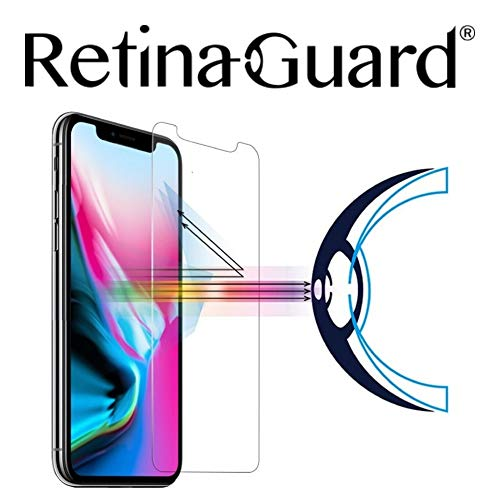 Retinaguard Iphone Xs Iphone X Anti Blue Light Tempered Glass Screen Protector Transparent Sgs And Intertek Tested Blocks Excessive Harmful Blue Light Reduce Eye Fatigue And Eye Strain