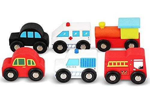 NimNik Holzspielzeug Autos Bus Motor Notfall Fahrzeuge Pädagogisches Spielzeug Spielzeugautos & Zubehör