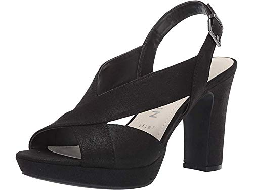 Anne Klein Women's Pauline Heeled Sandal Black 8 M US