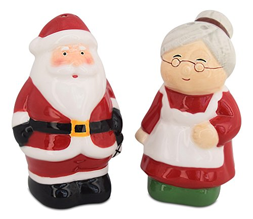 epper Shakers, Santa & Mrs Claus Holiday Ceramic Set, Holiday Decor, Barclay's Buys ()