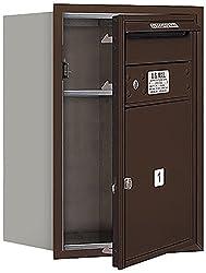 Salsbury Industries 3706S-01ZFP 4C Horizontal Mailbox, Bronze