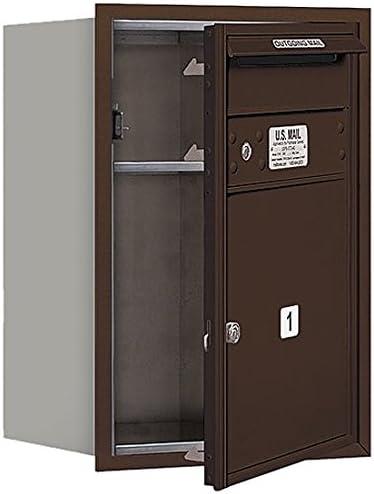 Salsbury Industries 3706S-01ZFP 4C Horizontal Mailbox Bronze