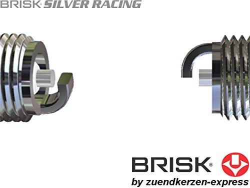 Brisk Silver Racing BR12S 1522 - Juego de 4 bujías de Gasolina LPG GPL CNG: Amazon.es: Coche y moto