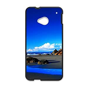 Personalized Creative Cell Phone Case For HTC M7,glam pure blue sky and sea beach