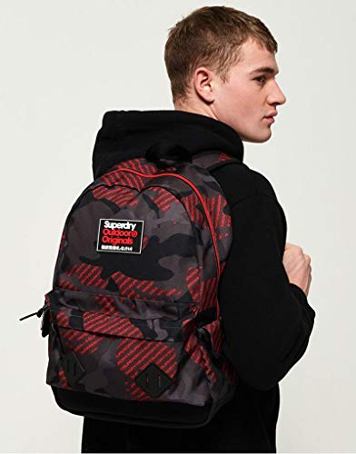 Superdry Logo Camo Montana Backpack in Red -