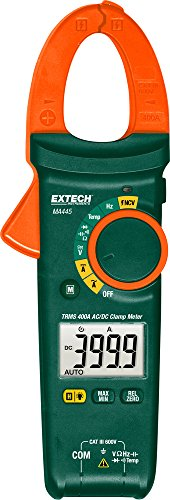 (Extech MA445 True RMS 400A AC/DC Clamp Meter with)