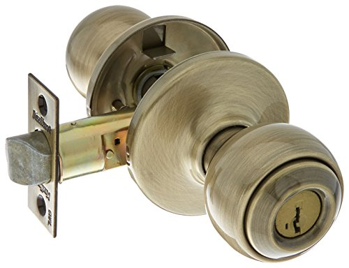Kwikset 400P-5S Polo Entry Door Locks Smart Key Antique Brass - Brass Smart Antique Key