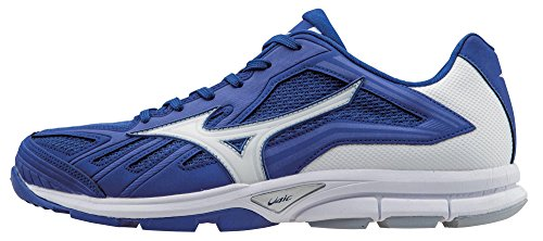 Mizuno Men's Players Trainer Turf Shoe, Royal/White, 8.5 M US (Mesh Mizuno Mens)