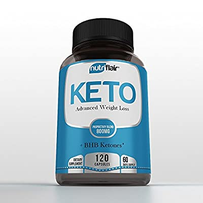 NutriFlair Advanced Keto Diet - Extreme Keto for Weight Loss, Fat Burner, Ketosis Supplement