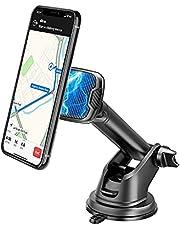 Baker Telefoonhouder voor de auto, magneet, 360 graden draaibaar, autosmartphonehouder met zuignap en kleefpad, dashboard en voorruit, telefoonhouder voor de auto, compatibel met iPhone Samsung Huawei