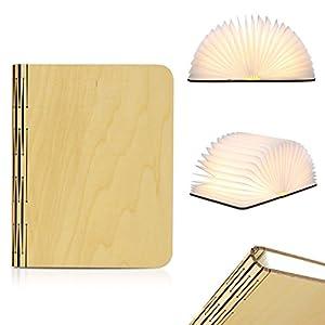 Excelvan BK01 Lampe LED Pliable Lampe de Livre 2500mAh 8 Heures d'Autonomie Magnétique Rechargeable USB Decor Bureau / Table / Lampe Magnétique Murale LED Blanc Chaud)