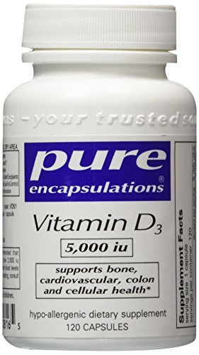 Pure Encapsulations - Vitamin D3 5000 IU 120 Capsules- 2 Pack by Pure Encapsulations