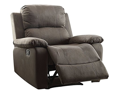 Major-Q Washed Microfiber Fully Reclining Memory Foam Recliner Chair for Living Room