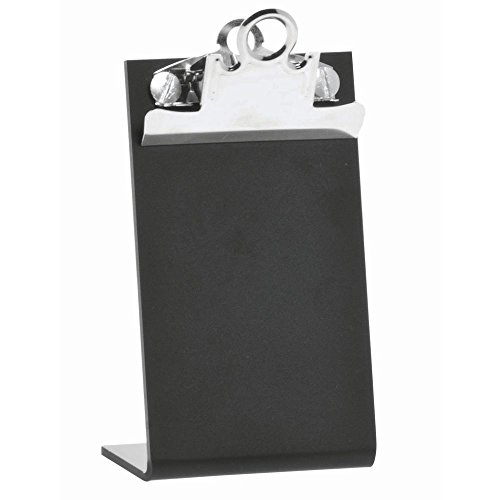 Black Clip Board Sign Easel - 3 1/8 L x 5 1/4 H by Hubert