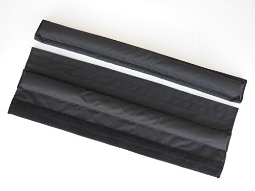 Vitamin Blue 36'' Roof Rack Pads Black (MADE in USA) WIDE PADS Nonlogo covered pads with securing velcro strips … by Vitamin Blue