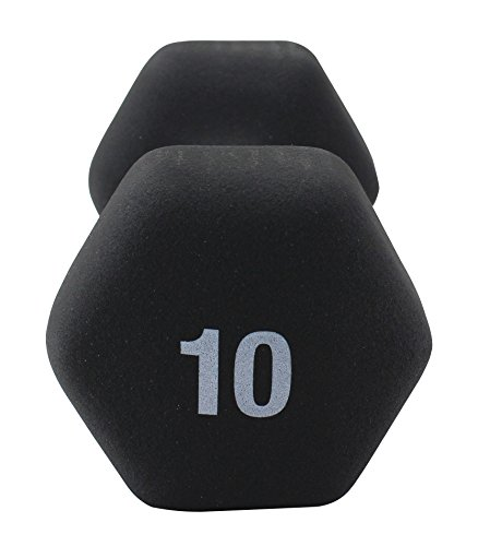 Premier Fitness XPRT Neoprene Coated Hex Dumbbells Single, 10 lb.