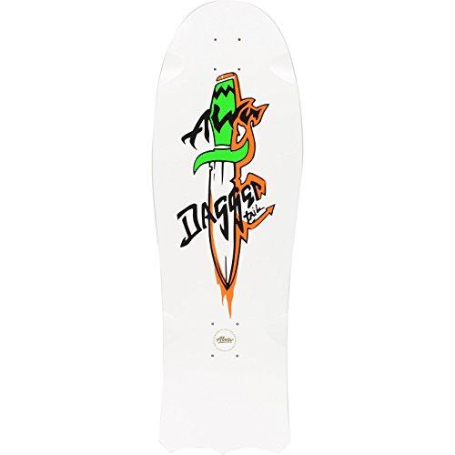 Alva Skateboards 1985 Dagger Tail White Skateboard Deck - 10